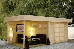Gartenhaus Selber Bauen Holz Anleitung : gartenhaus flachdach wolff pulti varianta 28 mit terrasse ~ Michelbontemps.com Haus und Dekorationen