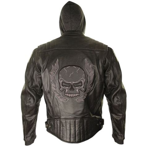 motorcycle jackets for men with armor xelement mens armored leather motorcycle jacket with skull