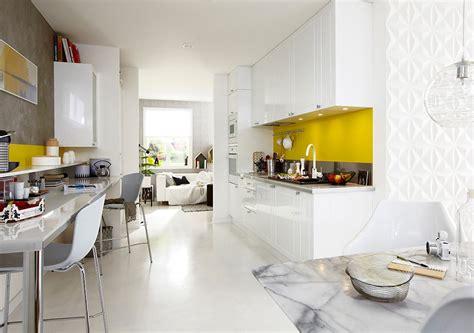 cuisine jaune et blanche cuisine blanche pourquoi la choisir maison