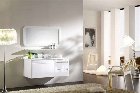 Wall Hung Bathroom Vanities With Sinks Customed Big White