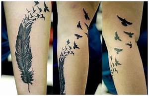 raven tattoos for women | Feather Tattoos Designs, Feather ...