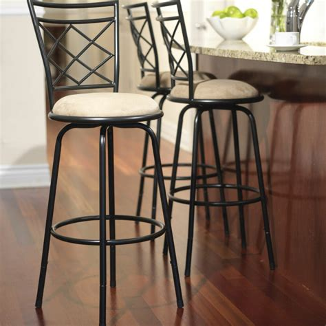 swivel metal stools  set adjustable bar height black