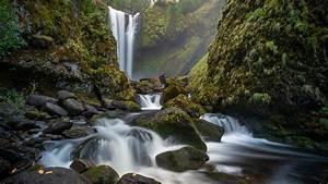 Rock, Stream, Waterfall, 4k, 5k, Hd, Nature, Wallpapers