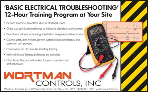 basic electrical troubleshooting wortman industrial controls st marys pa