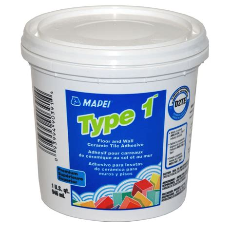 mapei porcelain tile mortar mapei type 1 1 qt premium floor and wall ceramic tile adhesive lowe s canada