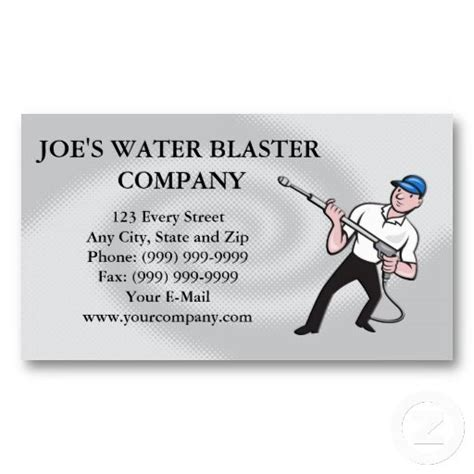 pressure washing business card templates power washing pressure water blaster worker business card
