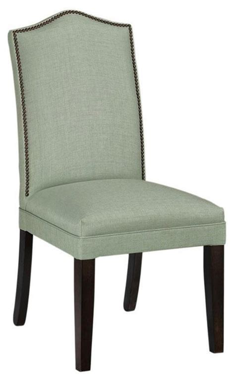 camel back parsons chair with nailhead trim traditional