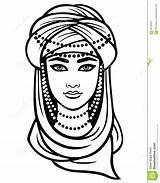 Turban Coloring Drawing Arab Template Sketch sketch template