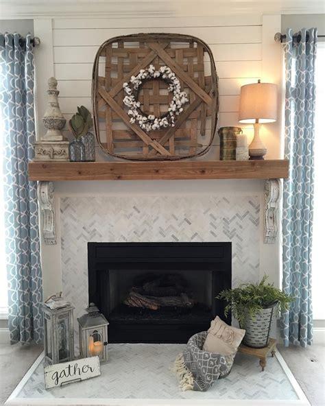 fireplace diy drab to fab fireplace shiplap and herringbone tile fireplace renovation