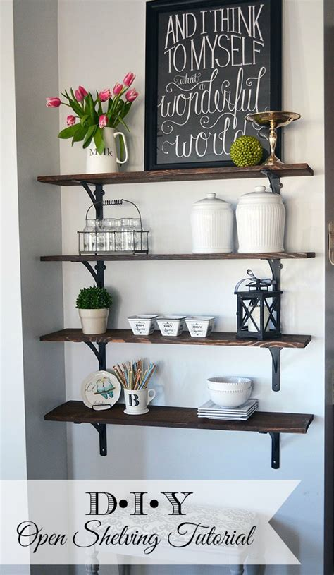 French Kitchen Decorating Ideas - how to build open stained shelves 11 magnolia lane