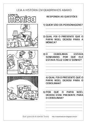 rosearts atividades para imprimir interpreta 231 227 o de hist 243 ria em quadrinhos papai noel