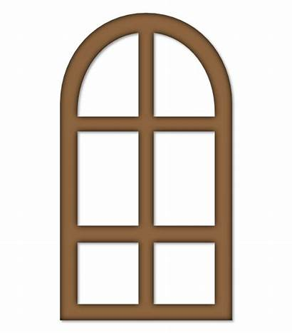 Window Clipart Arched Clip Vector Windows Svg