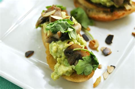 Lets Eat Smashed Avocado And Fried Mushrooms On Toast