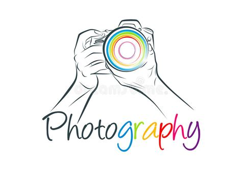 camera logo photography concept design stock vector