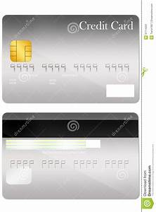 Bank Id Card Format Front And Back Credit Card Template Stock Image Image