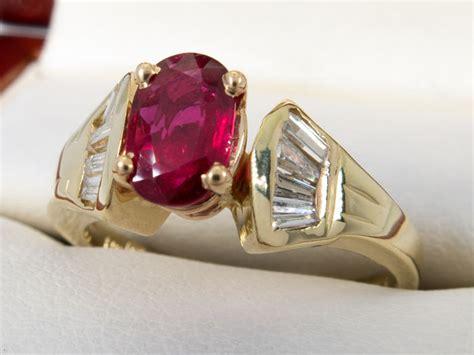 ct diamond ruby ring  gold  reserve price catawiki