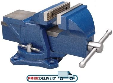 Steel Bench Vise 4 Inch Jaw Press Clamp Swivel Base Large