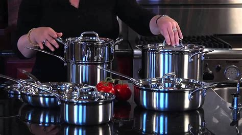 cuisinart multiclad pro stainless steel premier cookware set mcp  youtube