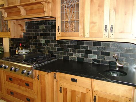 slate backsplash tiles for kitchen brown slate rustic kitchen backsplash tile design ideas