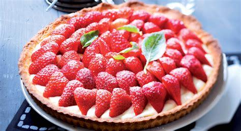 cuisine du lapin tarte aux fraises et sa crème pâtissière au basilic prima