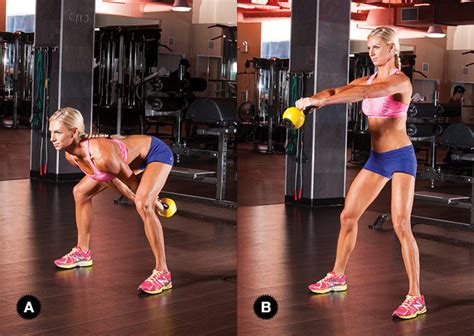 kettlebell workout body swing yell voor training total
