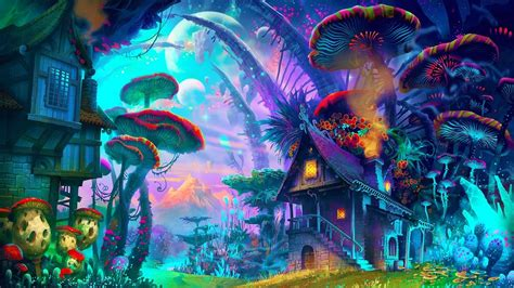 Trippy Anime Wallpaper - trippy shroom wallpaper 65 images