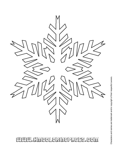 easy snowflake coloring page   coloring pages