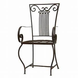 Fauteuil Fer Forgé : chaise en fer forg oc an chaise en fer artisanale faite la main ~ Teatrodelosmanantiales.com Idées de Décoration