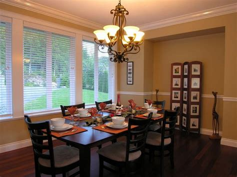 paint colors for dining room with furniture and