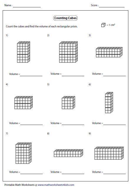 volume  rectangular prism  counting cubes math