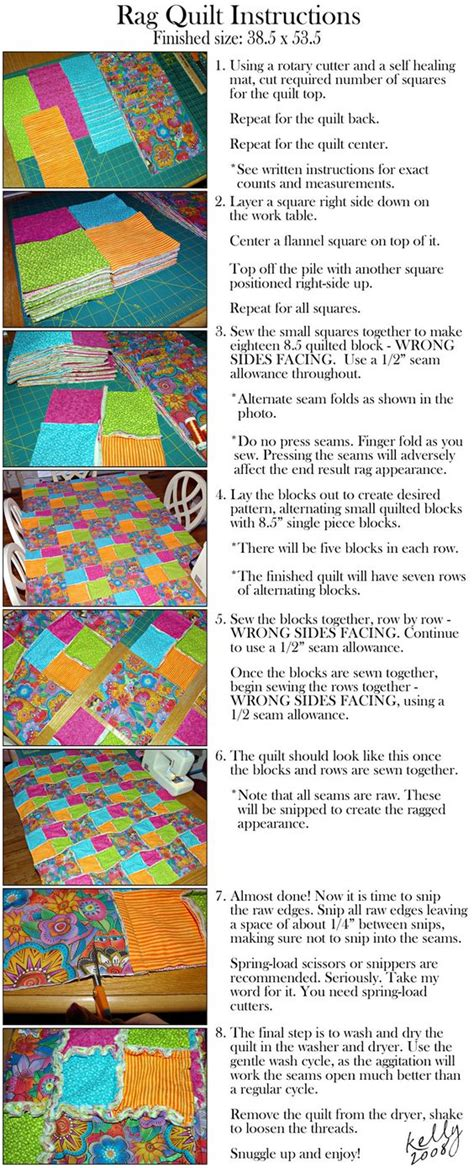 Easy Baby Rag Quilt Directions