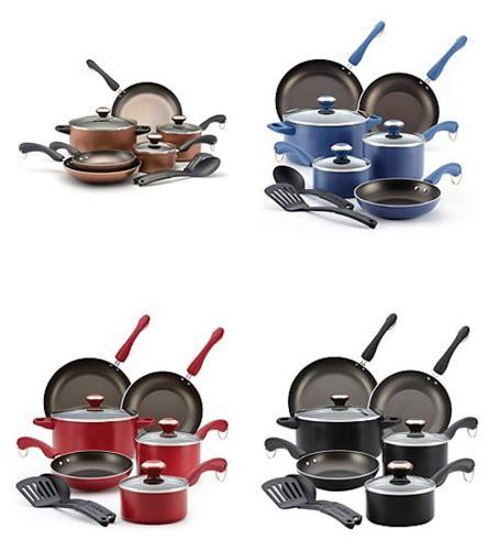 paula deen dishwasher safe nonstick  pc copper cookware set    rebate utah