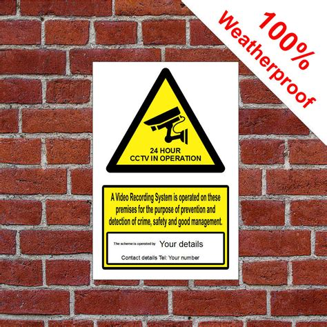 Custom CCTV sign by sign printed with operators details