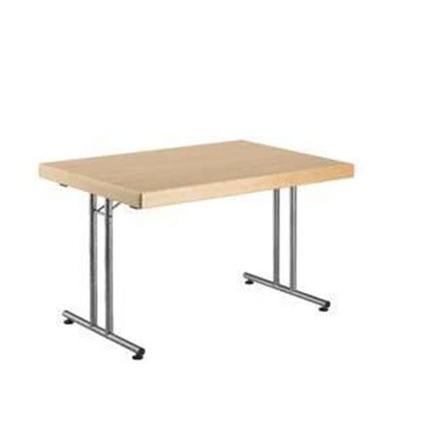 table pliante pour collectivite plateau melamine blanc