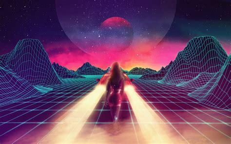 80s Neon Car Wallpaper by Desktop Wallpaper Retrowave Synthwave 80s Neon