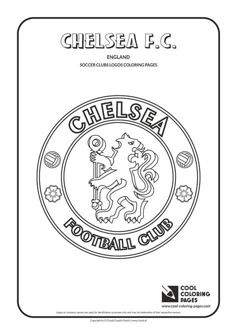 Chelsea F.C. logo coloring page | Football coloring pages ...