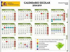 Calendario escolar Ceuta 20182019 fechas de festivos en