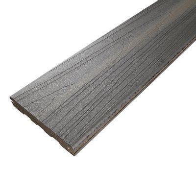 lame de terrasse composite gris xtrem l 244 x l 12 7 cm castorama