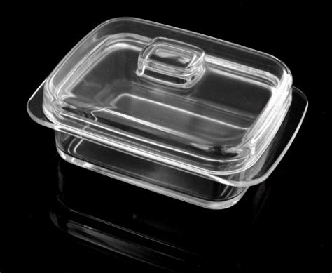 butterdose aus glas kitchen paradise butterdose aus klarem glas viereckig mit beh 228 lter k 228 sedose