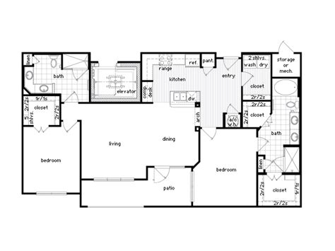 Luxury Apartment Floor Plans 3 Bedroom Luxury Two Bedroom Apartment Floor Plans And Beds Sf B