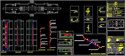 bus bar installation details  autocad cad  mb