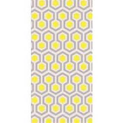 Papier Peint Geometrique Jaune by L 233 De Papier Peint Intiss 233 Motif G 233 Om 233 Trique Vintage Jaune