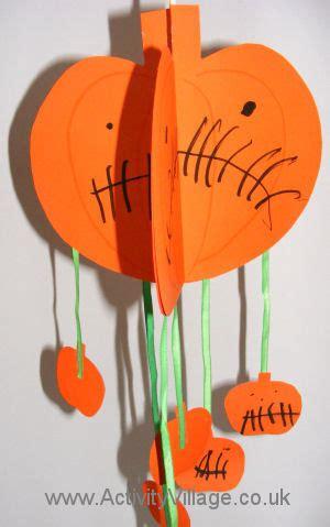 halloween pumpkin mobile kids craft