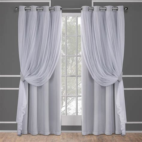 Light Purple Shower Curtain Sheer Grey Curtains Home The Honoroak