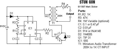 stun gun schematic and plans crafts electronic schematics electronic