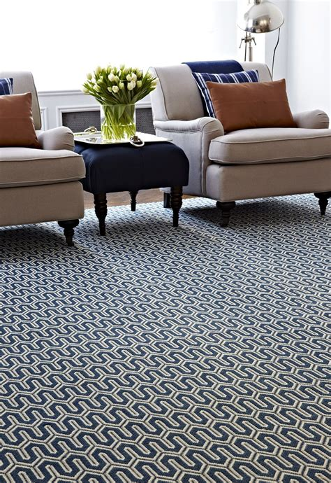 Living Room Rugs Store by A Striking Navy Geometric Rug In A Living Room Stanton