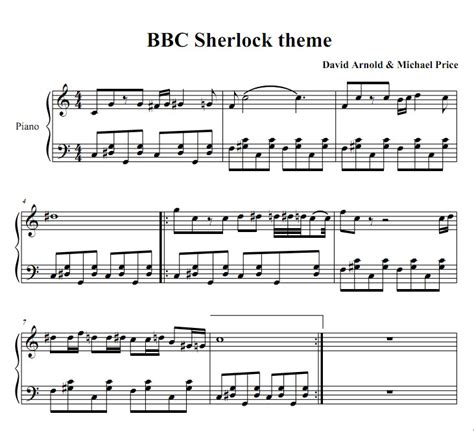 Some contemporary piano music has one stave (usually treble clef) for the right hand and chord symbols above or below the staff. Sheet music for the theme song : Sherlock