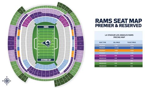 la rams   offering premier reserved seating   stadium turf show times