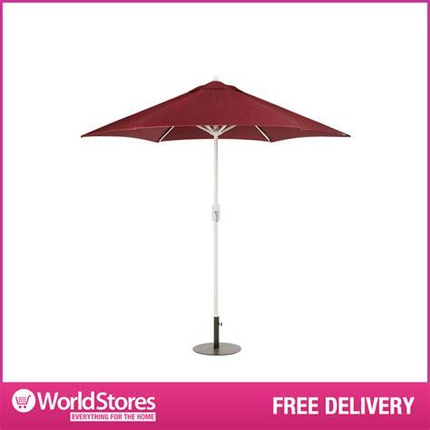 burgundy 2 5m garden parasol outdoor large patio
