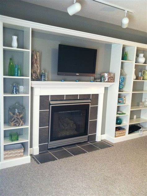 Billy Bookcase Tv Stand by Faux Built In Billy Bookcase Ikea Hack Built Ins Tile